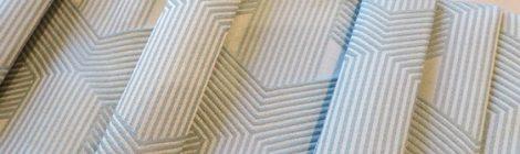 Tissu géométrique avec doublure occultante